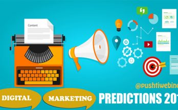 DIGITAL MARKETING PREDICTION 2018 BY PUSHTI